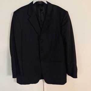 JONES NEW YORK MEN'S 3 BUTTON BLACK PINSTRIPES